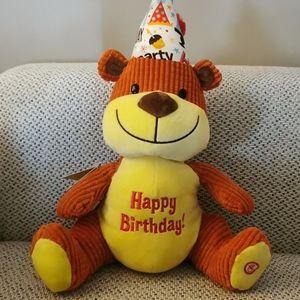 Hallmark Exclusive Singing Party Hat Birthday Bear